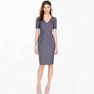 J. Crew Wool Blend Dress Size 4 In Charcoal Gray